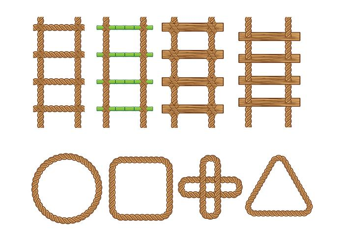 Rope Ladder Vector