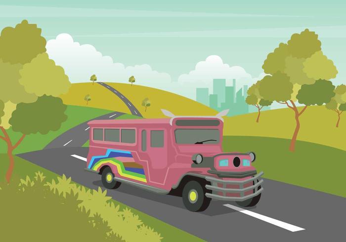 Ilustración de Jeepney gratis