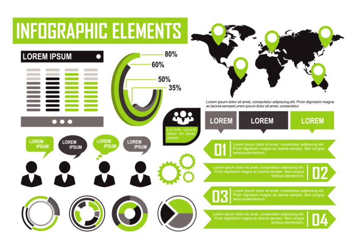 Green Infographic Elements Vector