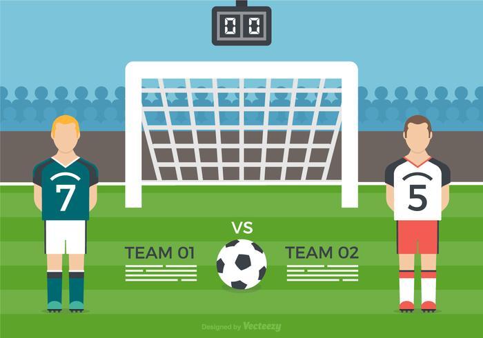Free Football Match Vector Illustration