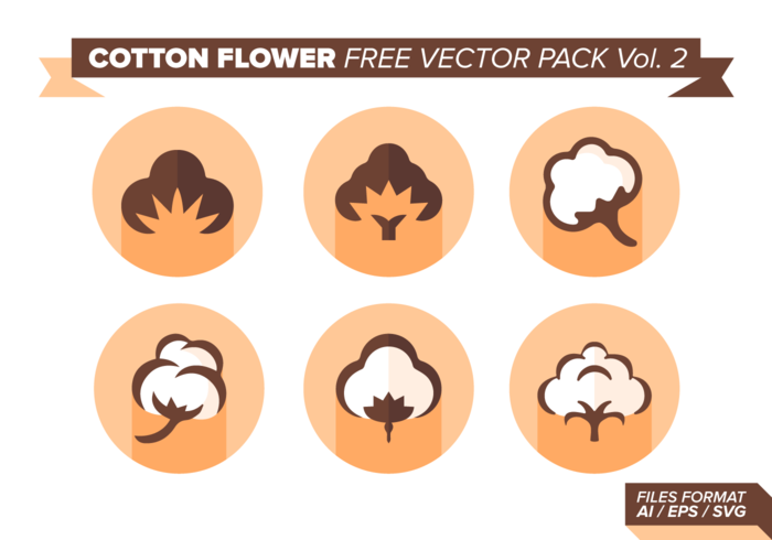 Katoen Bloem Gratis Vector Pack Vol. 2