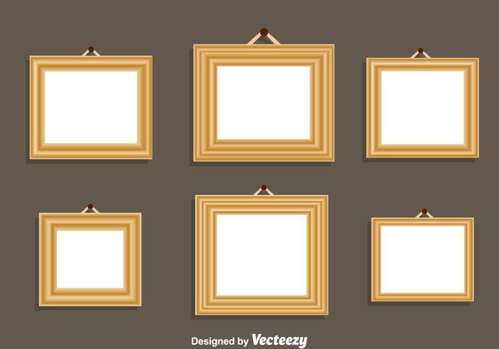 Marco de madera conjunto de vectores - Descargue Gráficos y Vectores ...