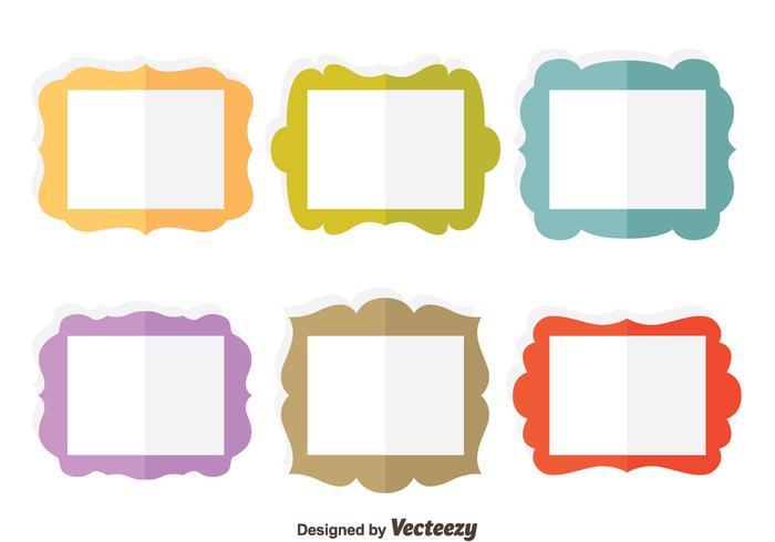 Colorful Flat Frame Vector Set