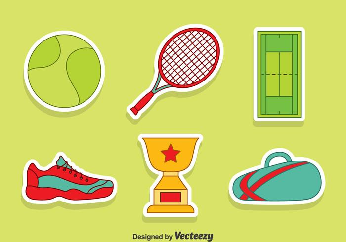 Nice Tennis Element Vector Set
