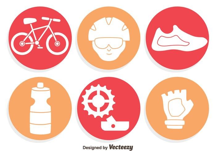 Bicycle Element Icons Vector