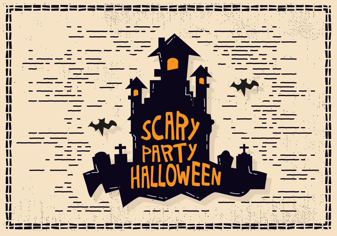 Halloween Castle Illustration - Download Free Vectors ...