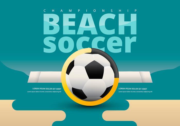 Championnat de football de plage avec le modèle d'équipe