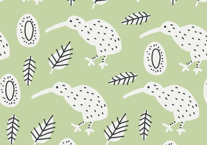 Green Kiwi Bird Pattern