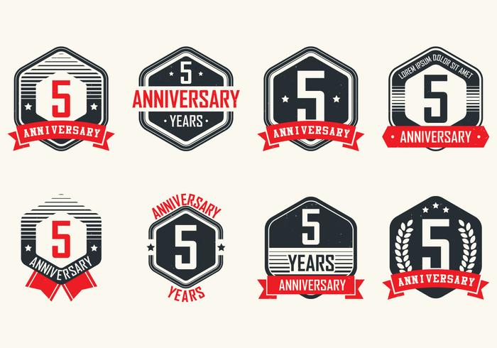 Anniversary Vintage Badges vector