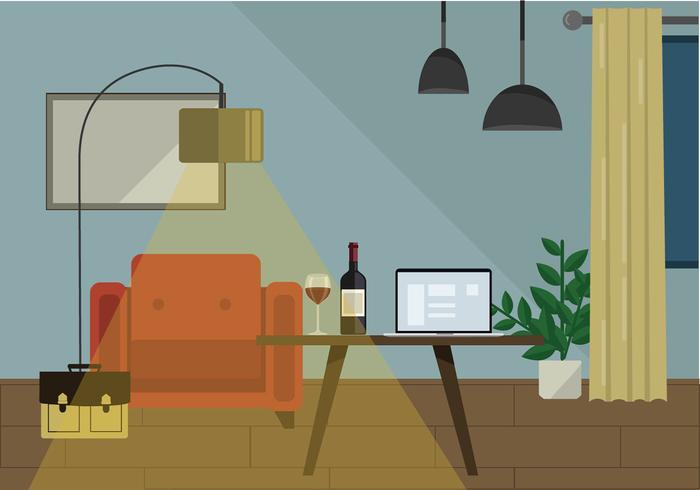 Vector Wohnzimmer Illustration