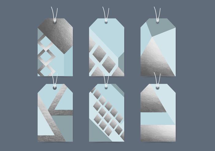 Vektor geometriska etiketter