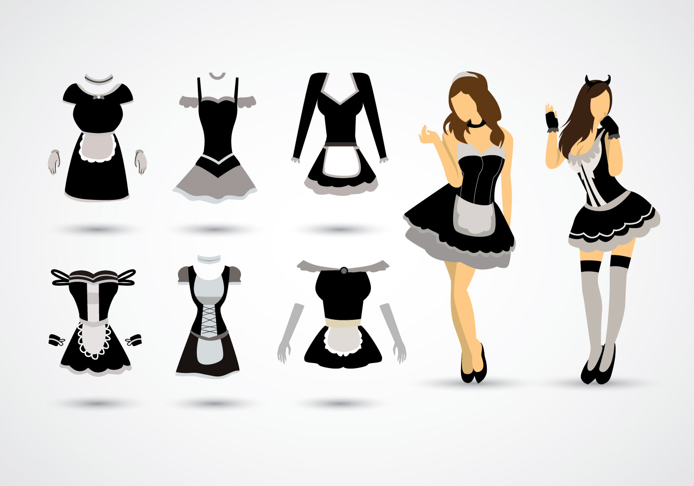 Free Vector Cartoon French Maid - Download Free Vector Art, Stock ...