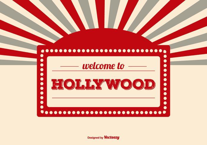 Welkom bij de Hollywood Illustratie vector