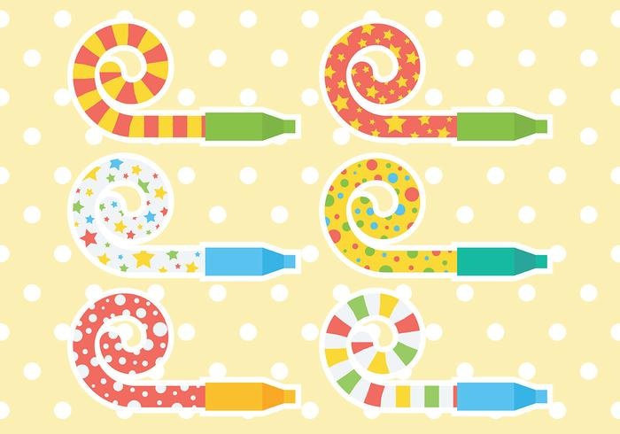 Free Party Blower Icons Vector