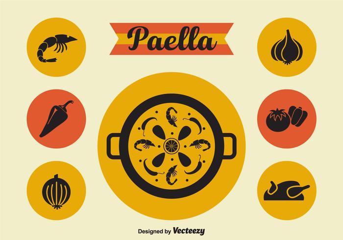 Paella Vector Icons