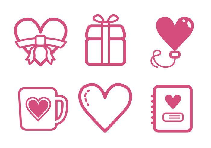 Set di icone di San Valentino