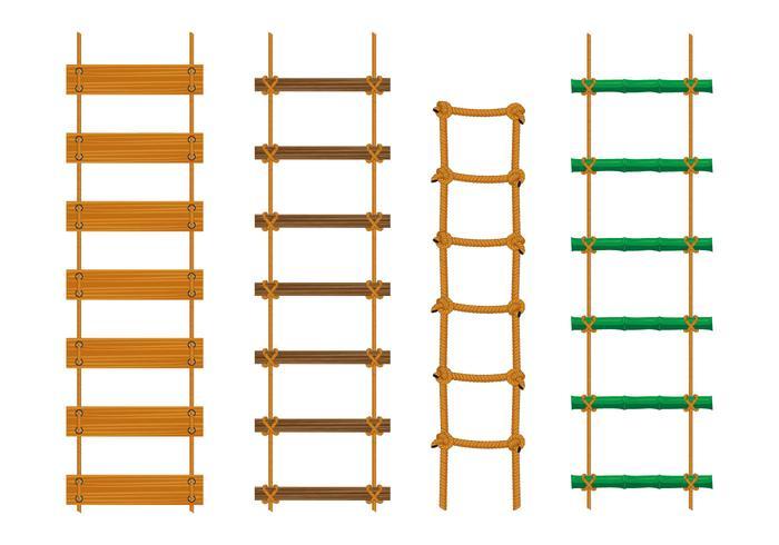 Vectores de escalera de cuerda