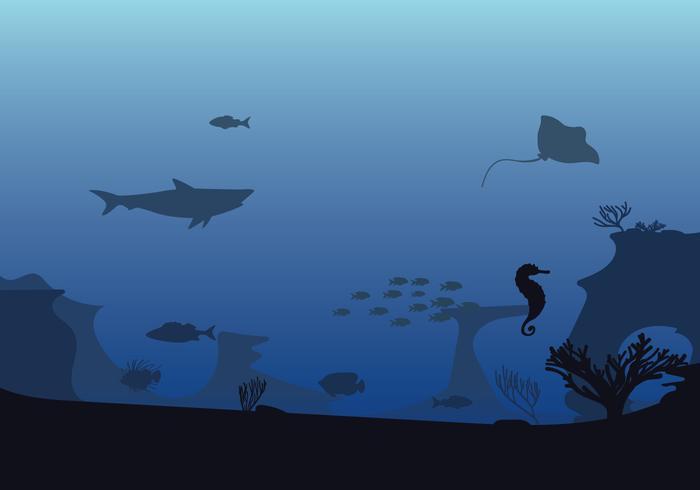 Ilustración libre de los fondos marinos