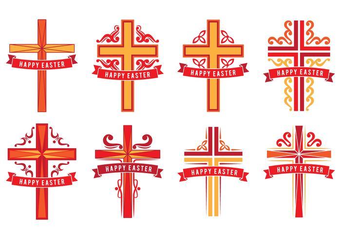 Croix de Pâques vecteur