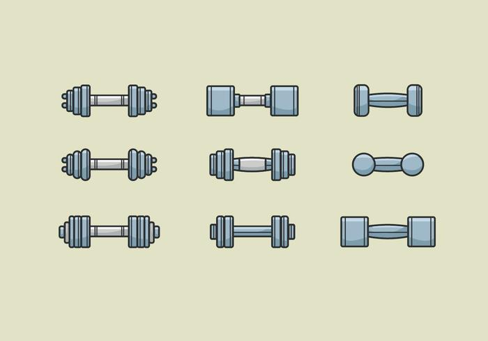 Dumbell Vectores Iconos