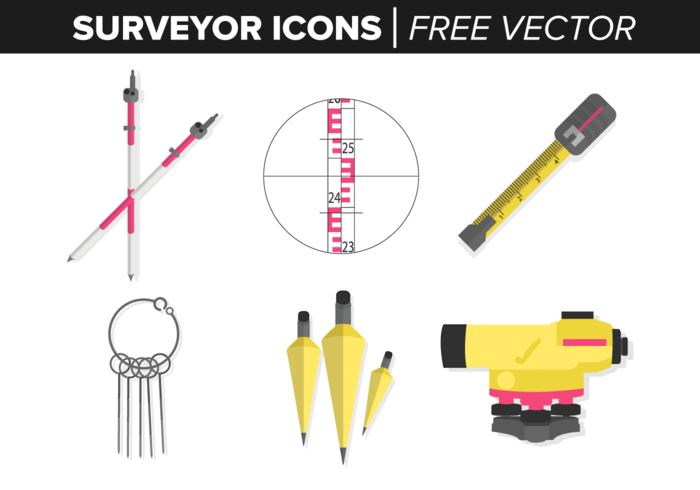 Surveyor Icons Free Vector