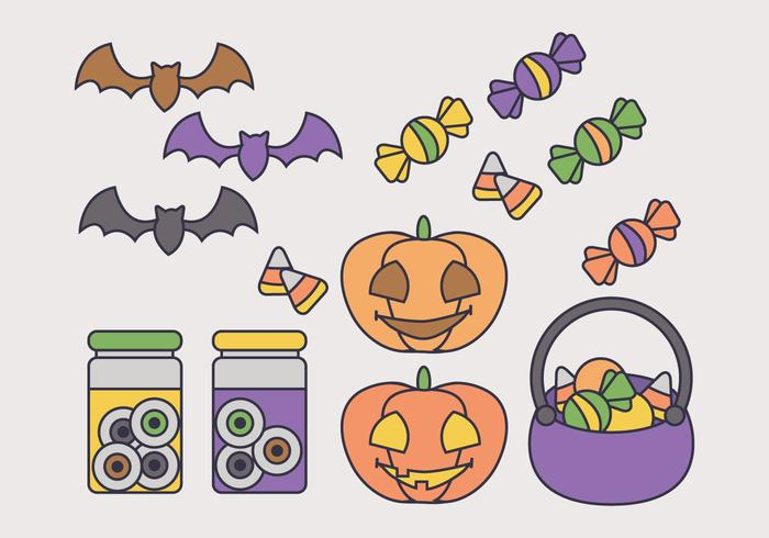 Elementos do vetor de Halloween