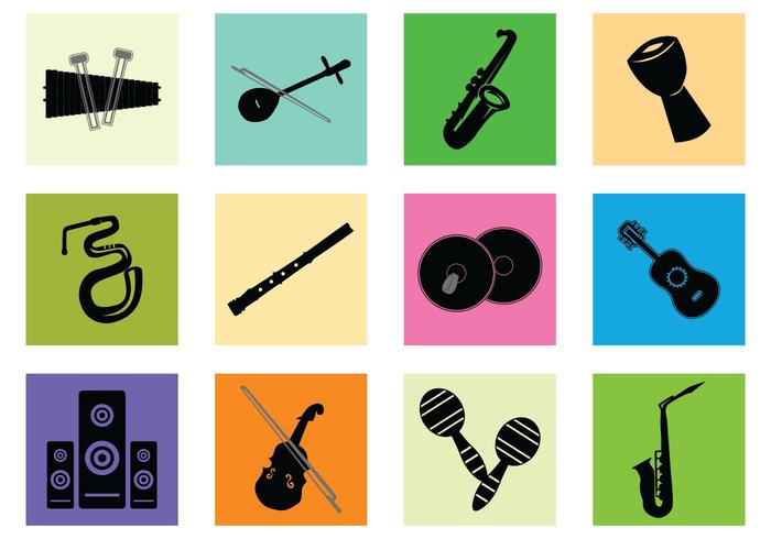 Silhouette Of Music Instrument vector