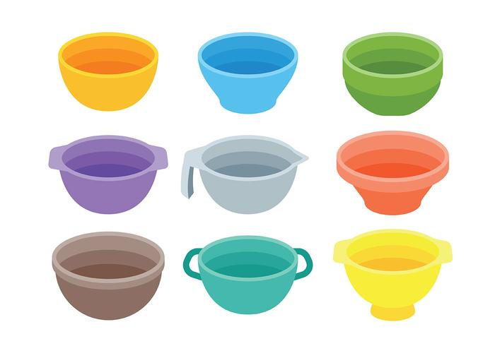 Mixing Bowl Icons Vector