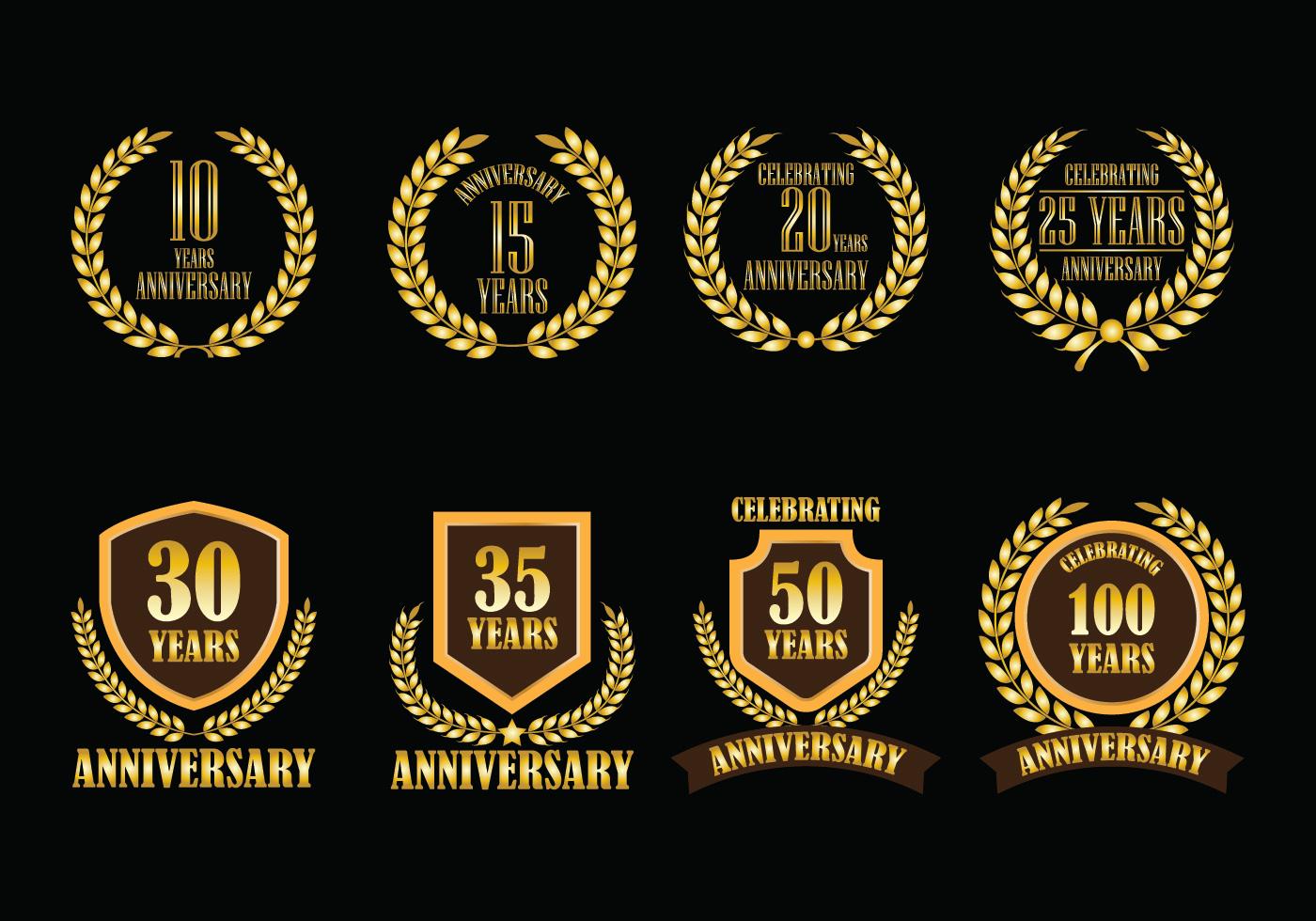 Anniversary vector badges download free art