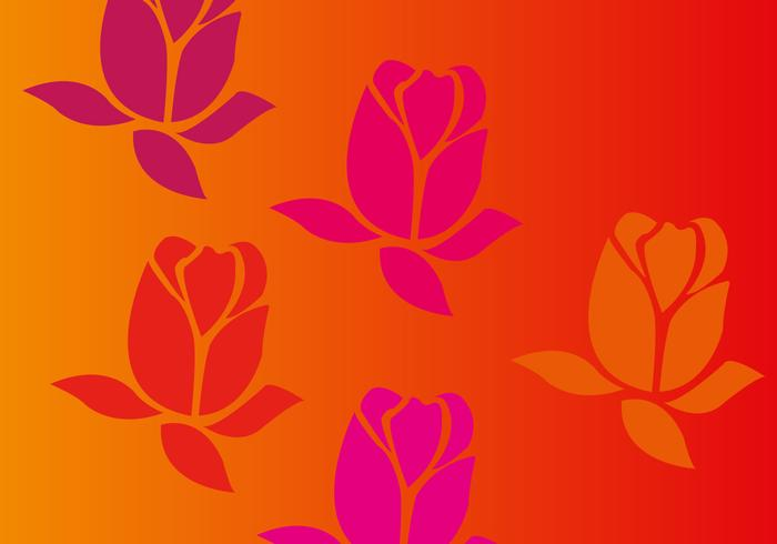 Red and Orange Rose Vector Background
