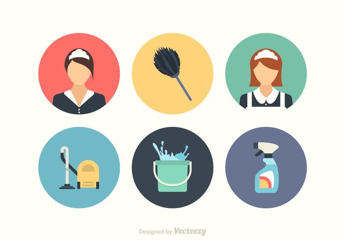 Set di icone vettoriali gratis pulizia