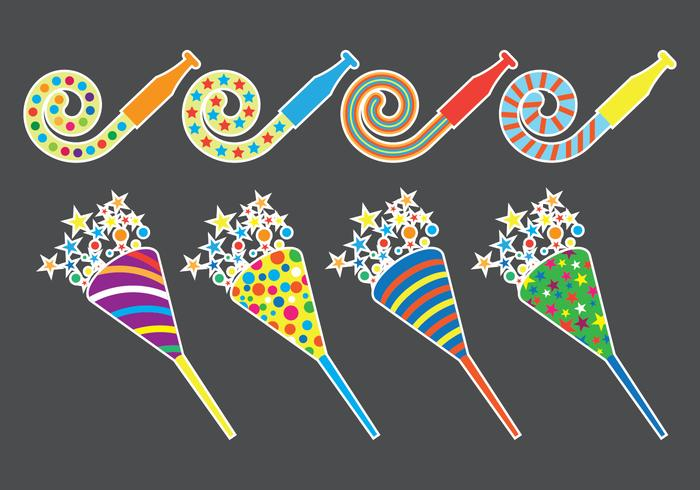 Party Blower Icons