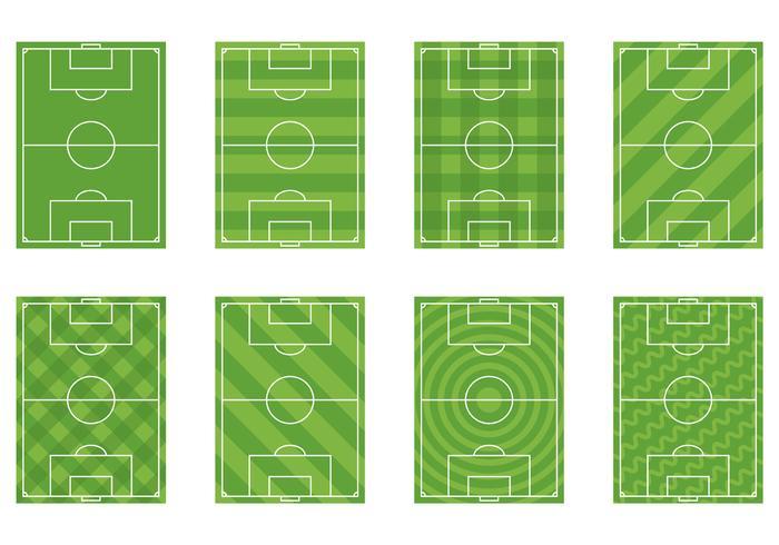Set av fotbollsplan vektor
