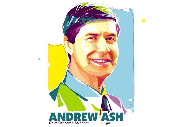 Andrew ash - vie scientifique - popart portrait