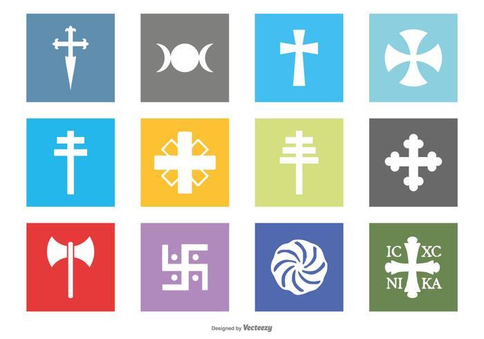 Religion Symbol Icon Collection