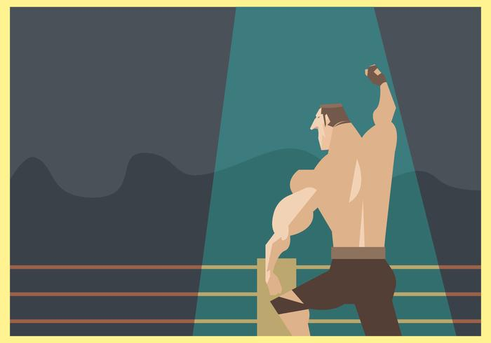 Wrestle champion vector