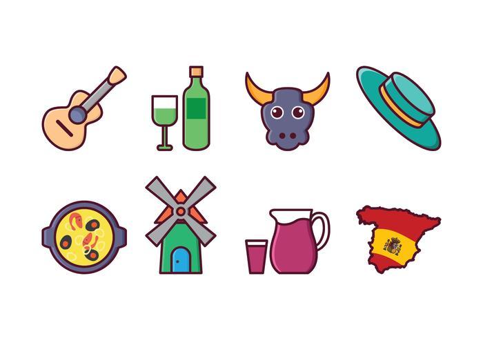 Conjunto grátis de ícones da Espanha
