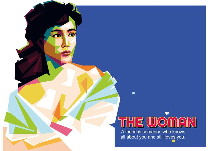 The Woman - Indonesian Life - WPAP vector