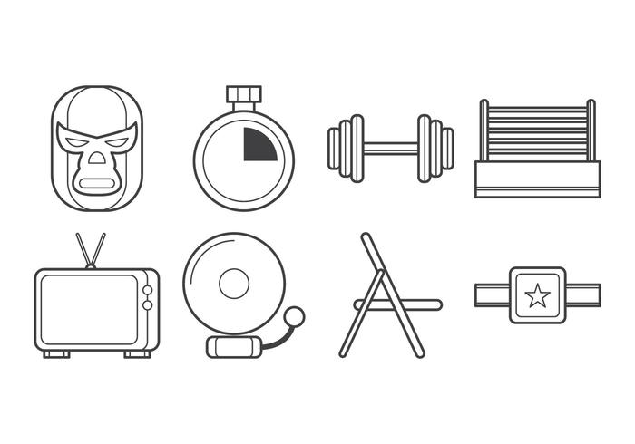 Free Wrestling Icon Vector