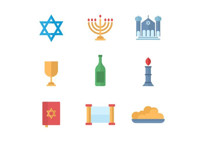 Gratis Shabbat Vector Ikoner