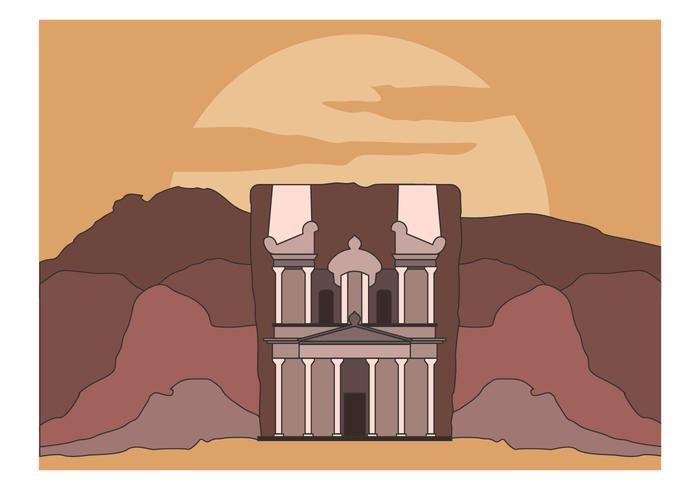 Free Treasury At Petra Vector