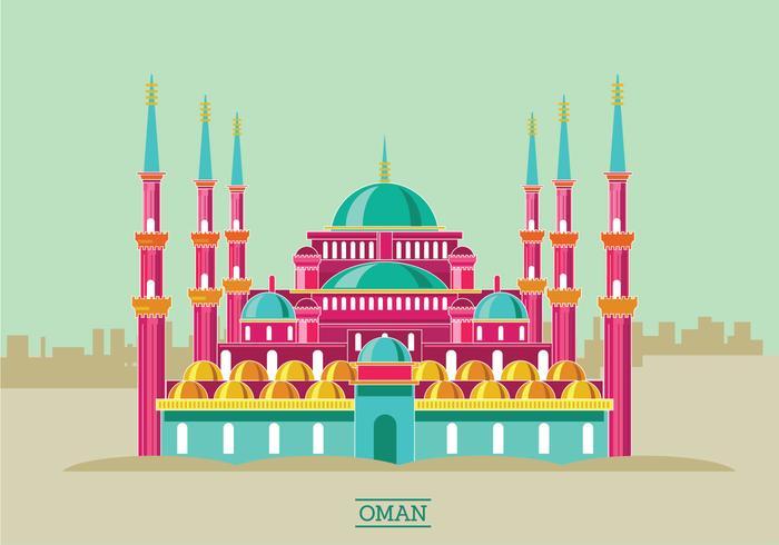 Historic Sultan Ahmet Mosque Vector Illustration