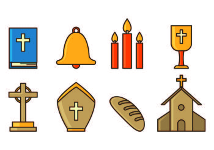 Set Of Holy Week Icons
