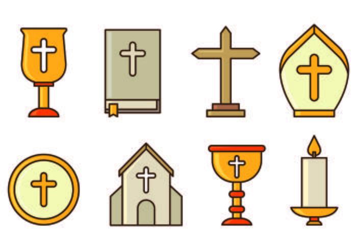 Set Of Holy Week Icons