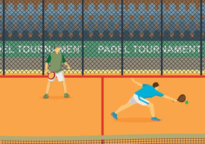 Free Padel Illustration