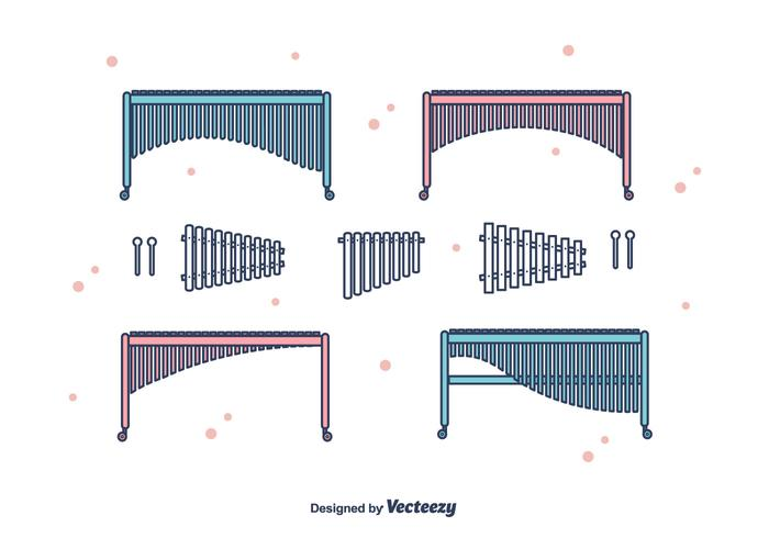 Marimba vector set