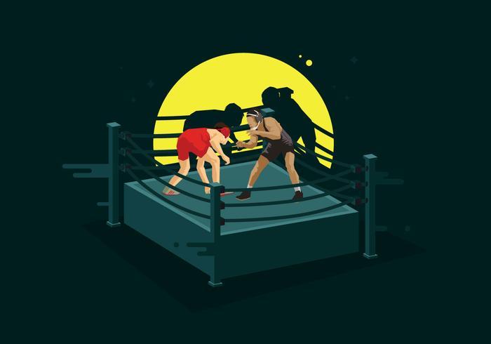 Libre anillo de lucha ilustración