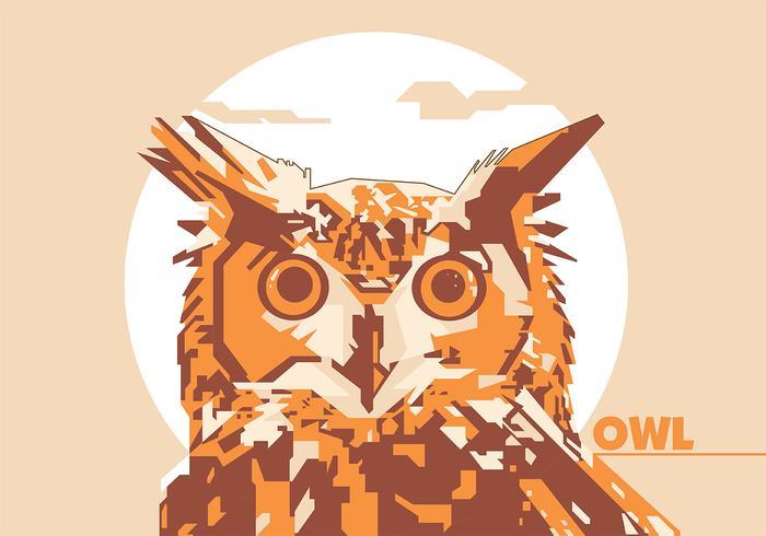 Owl animal life popart portrait