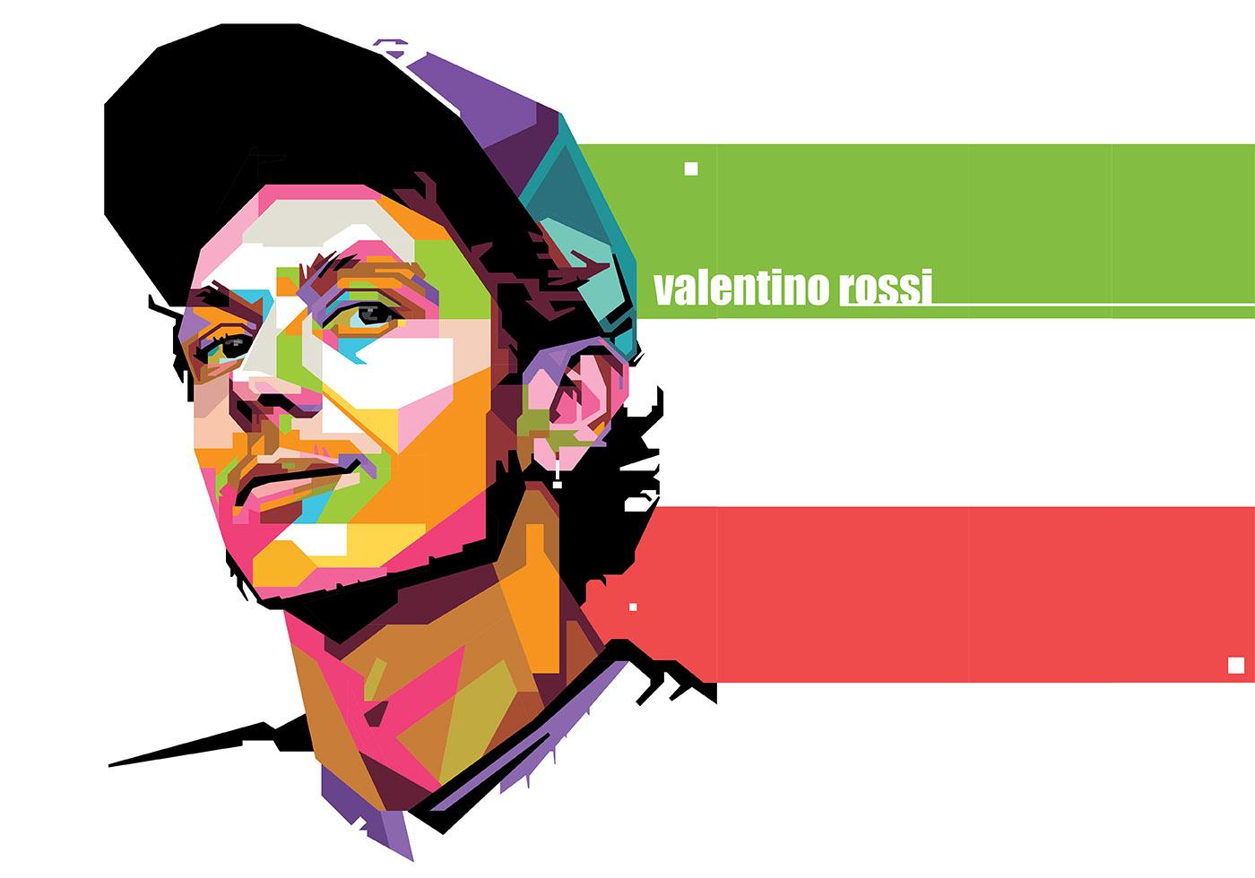 valentino rossi sport life wpap download free vector