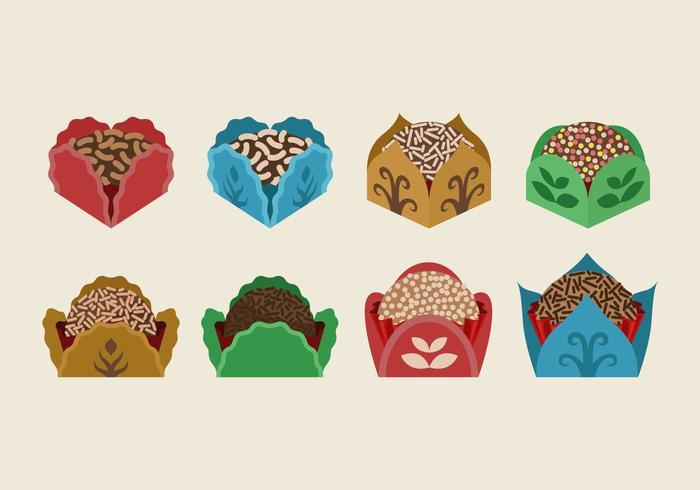 Brigadier, marrom, biscoitos, cor, caixa, vetorial, Ilustração